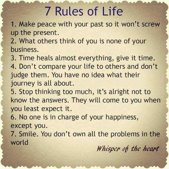7 Rules of Life, Version 2