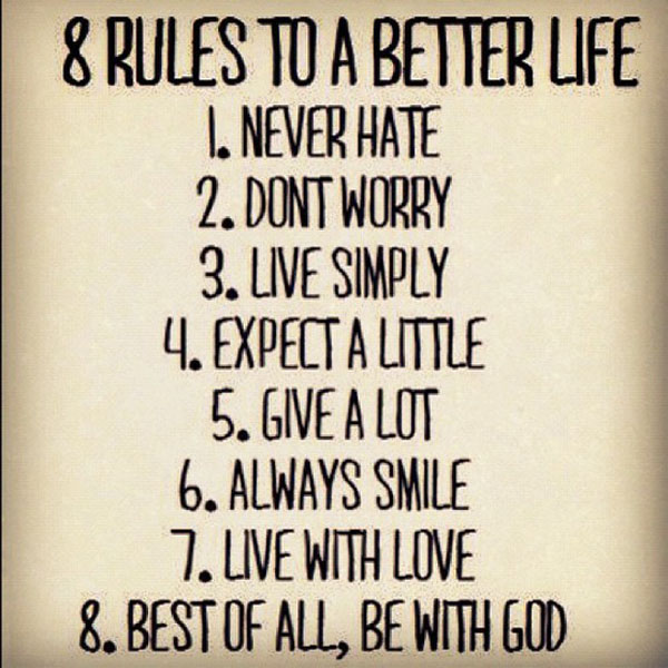 8 Rules to a Better Life?resize=590%2C590 8 rules to a better life meme infographic a day
