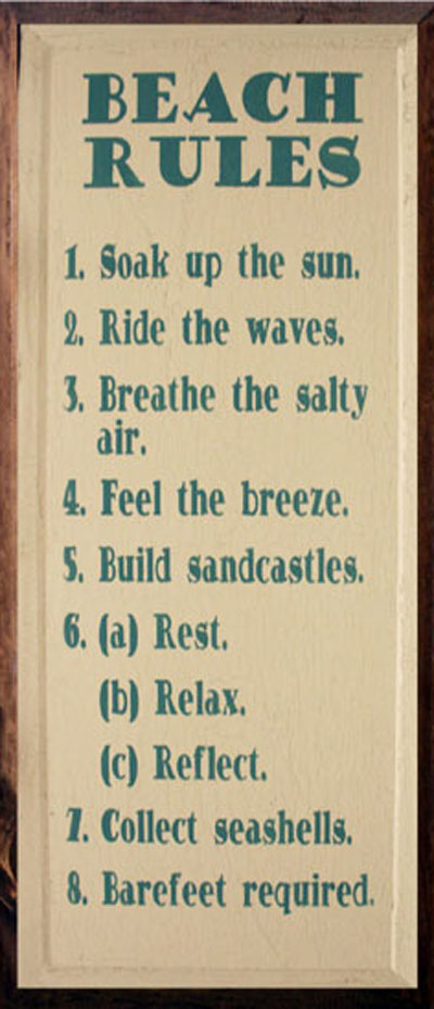 Beach Rules: Have Fun!