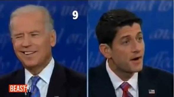 Joe Biden smirks