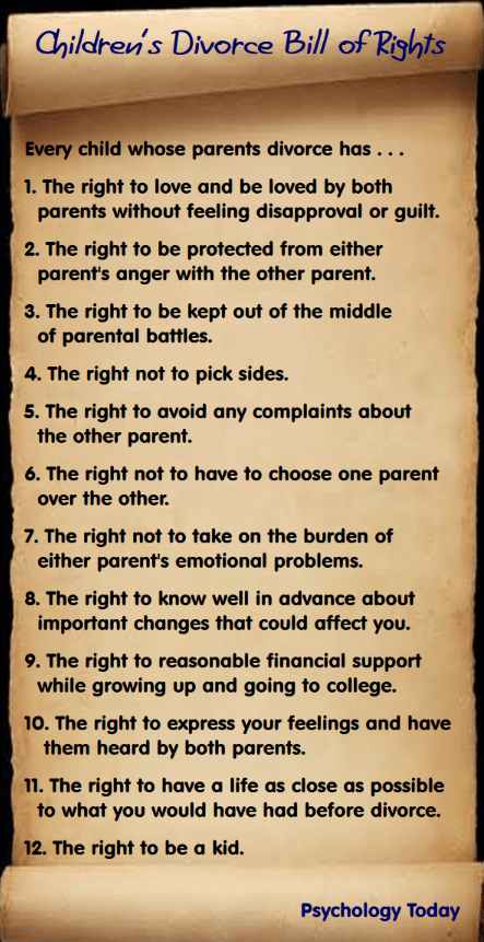 Children's Divorce Bill of Rights