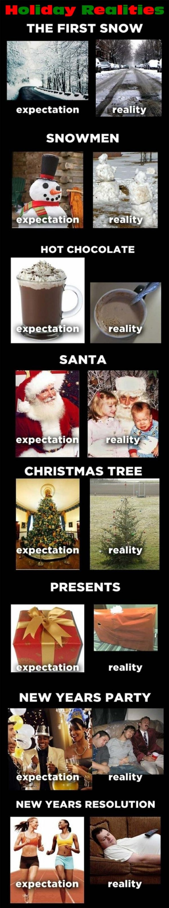 Holiday Expectations and Holiday Realities