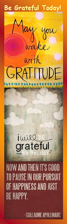 Motivational Bookmark - Be Grateful Today