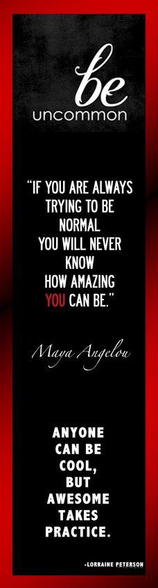 Motivational Bookmark - Be Uncommon