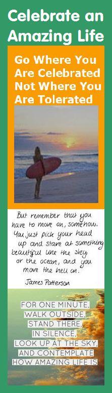 Motivational Bookmark - Celebrate an Amazing Life