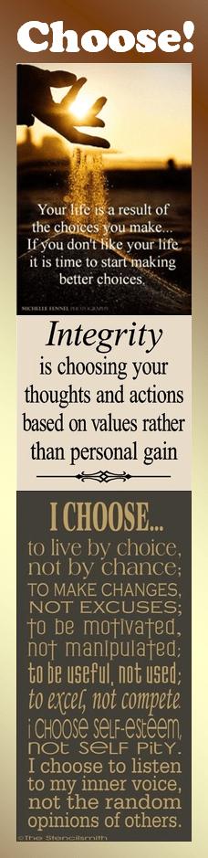 Motivational Bookmark: Choose