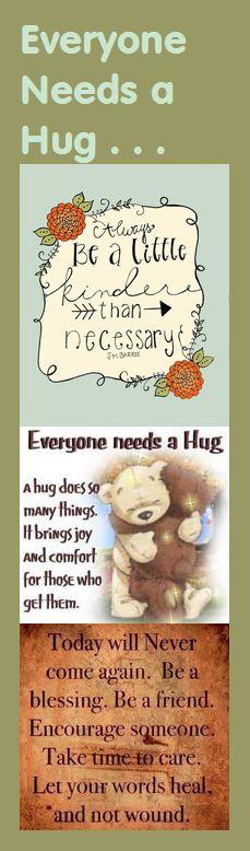 Motivational Bookmark - Everyone Needs a Hug