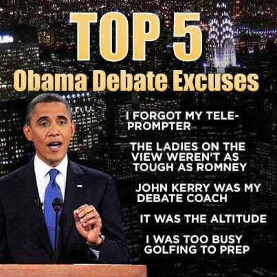 Obama presidential debate excuses