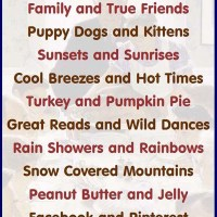 Thanksgiving Infographic: Things to Be Thankful For