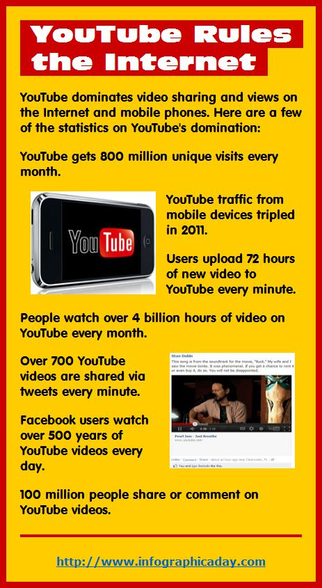 Infographic: YouTube Rules the Internet