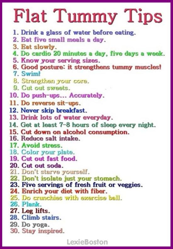 toned tummy tips