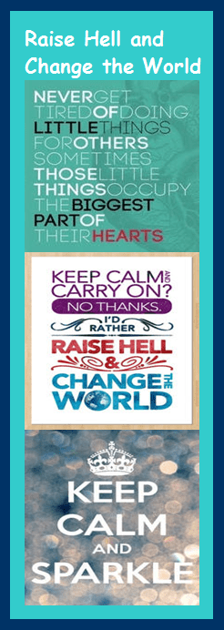 motivational bookmark: raise hell and change the world