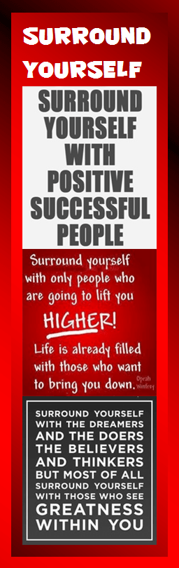motivational bookmark - surround yourself with good people