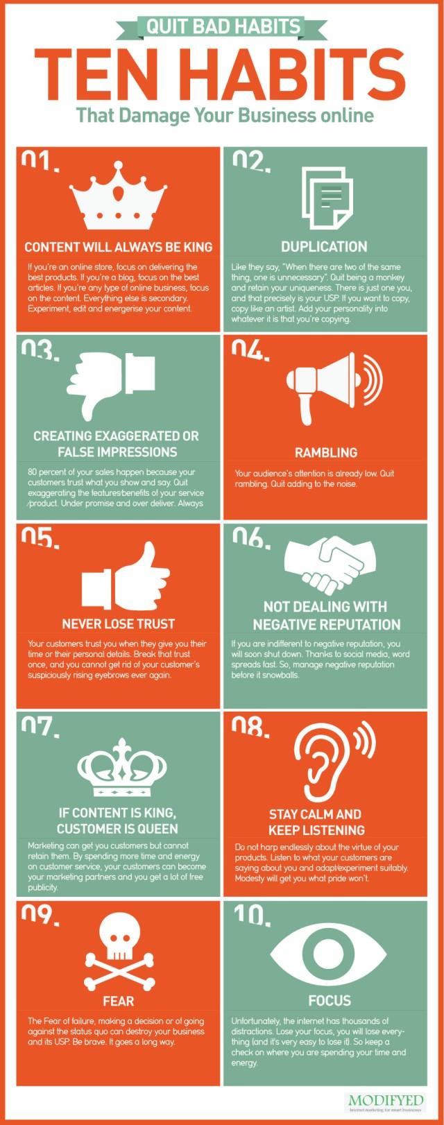 10 Bad Habit That Damage Your Business Online
