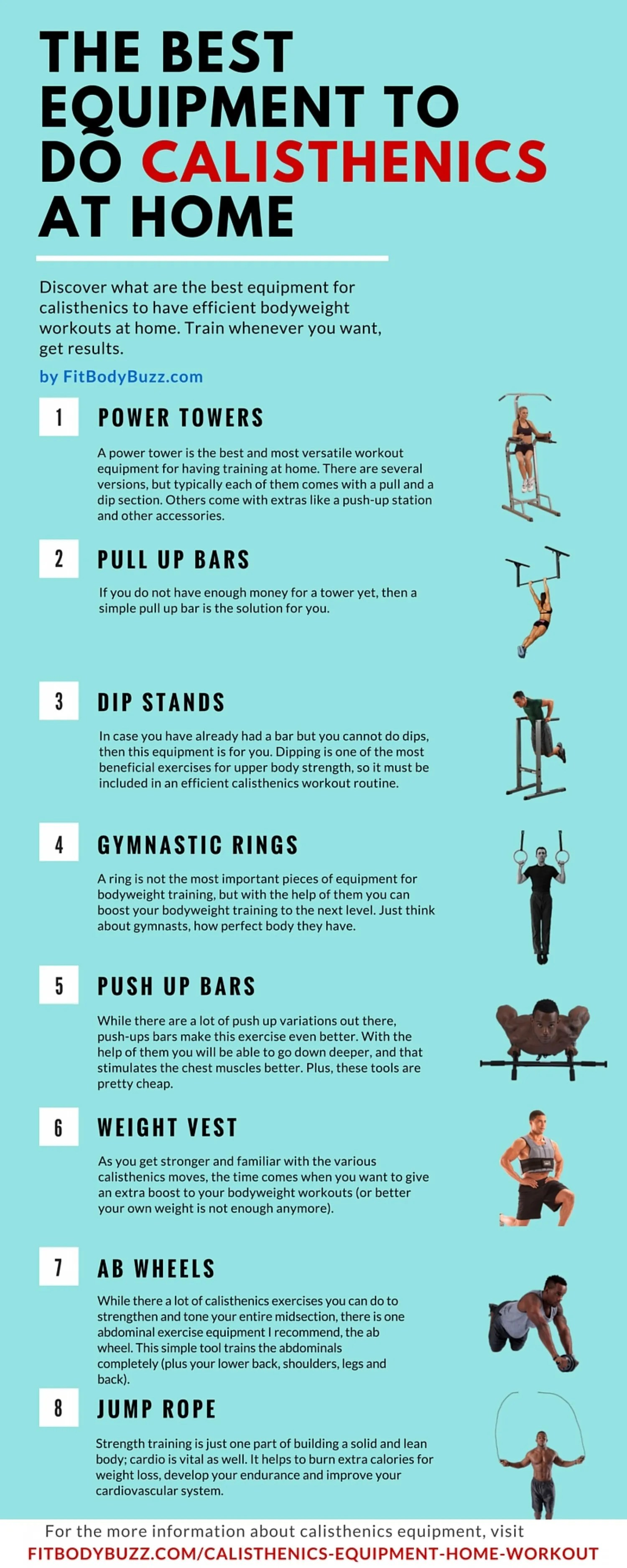 The Best Equipment To Do Calisthenics At Home Infographic Facts