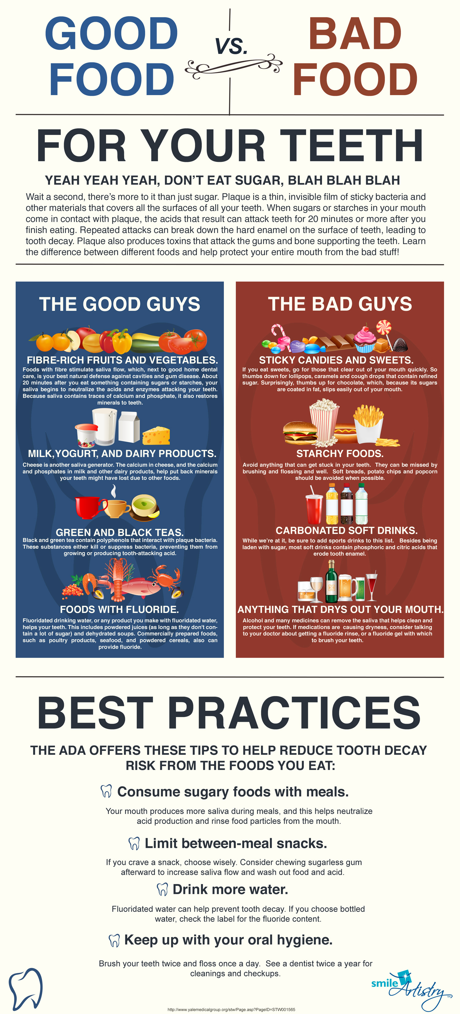The Best And Worst Foods For Your Teeth Infographic