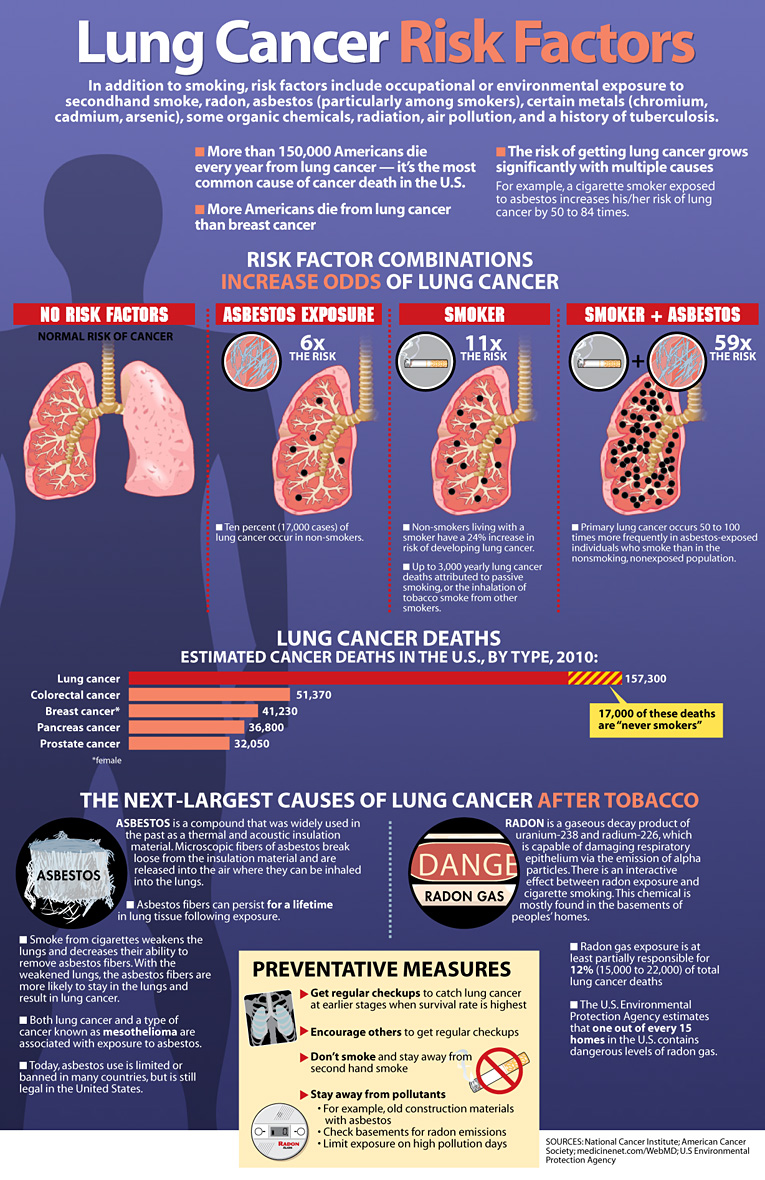 Lung Cancer Risk Factors [INFOGRAPHIC] – Infographic List