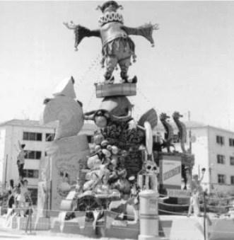 Foguera Sagrada Familia 1971. 200000 pesetas.