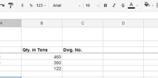 titles in spreadsheet
