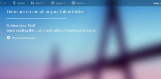 Emptied Yahoo Mail In-box