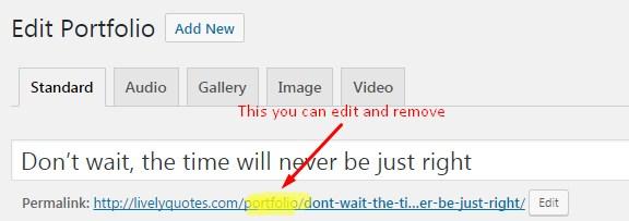 edit individual permalinks while posting