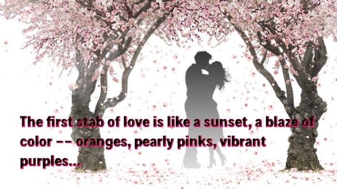 The first stab of love attractive picture love quotes