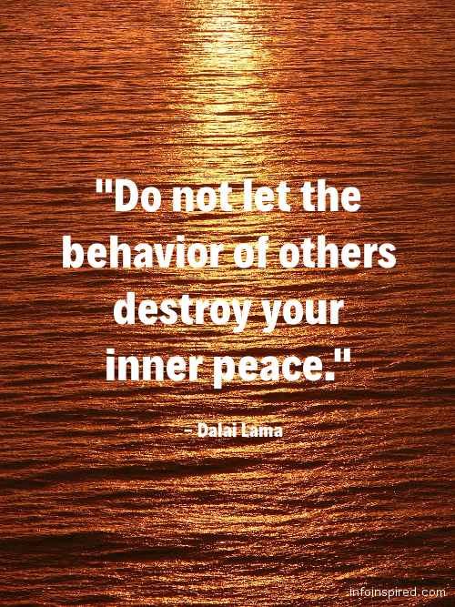 18 WhatsApp DP - DO NOT LET THE BEHAVIOR OF OTHERS DESTROY YOUR INNER PEACE