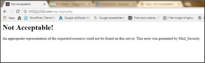 Not Acceptable! This Error was Generated by Mod_Security, Solve WordPress Login Issue [HostGator]