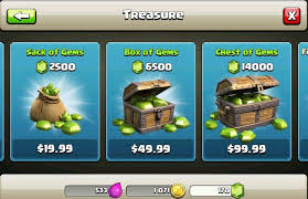 Micro transactions of clash of clans, a free game
