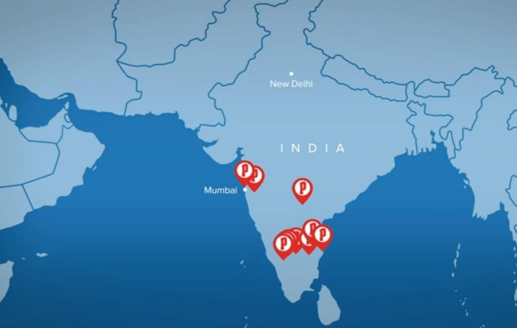 Papa John's Pizza outlet in India