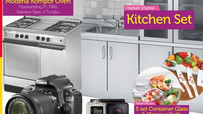 Kuis Berhadiah Kitchen Set Kamera Canon Eos 100d Modena Kompor