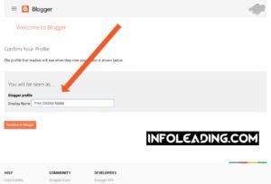 Adding display name on blogspot