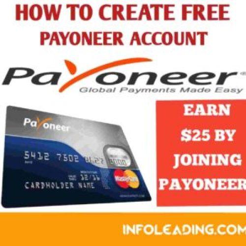 How to create free payoneer account
