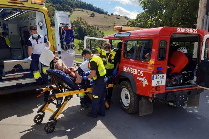 Rescatada una senderista con fractura de tobillo en Cahecho