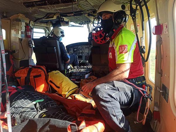 Rescatada una mujer de Avilés con rotura de tobillo tras caerse en Fuente Dé