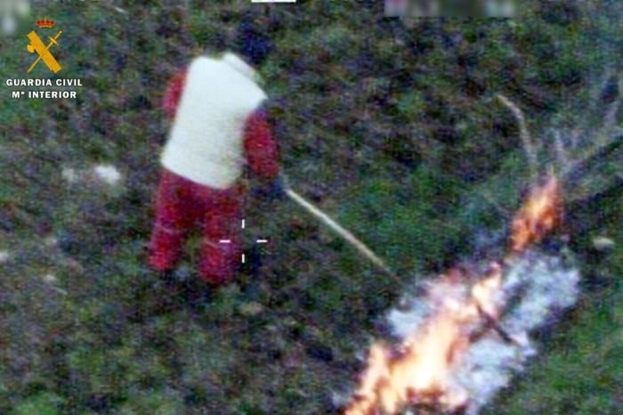 Investigados dos vecinos de Peñarrubia como presuntos autores de un incendio forestal