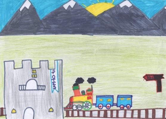 Dos lebaniegos entre los ganadores del concurso de dibujo 'La Europa que imaginas: Miradas al tren'