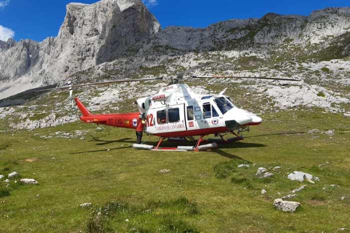 Rescatada en helicóptero una escaladora inconsciente en Picos de Europa