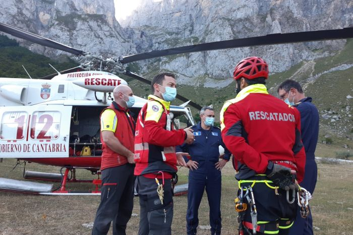 Rescatadas dos jóvenes de Suances y Santander en la ruta de los Tornos de Liordes