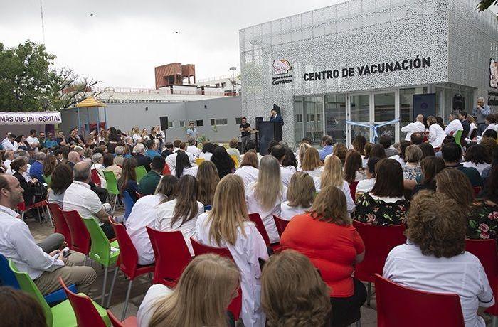 El Garrahan inauguró el Centro de Vacunación más grande del país