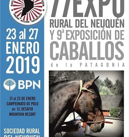 La Expo Rural en Junín de los Andes, contará con una nutrida agenda de actividades