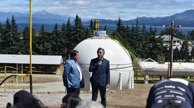 Macri inauguró un gasoducto, el acto duró sólo 15 minutos