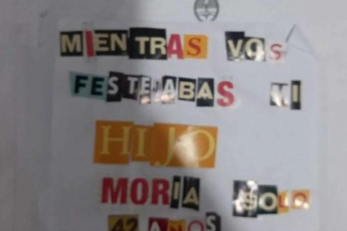 """""""Mientras vos festejabas, mi hijo moría solo"""": el mensaje que le dejaron a Alberto Fernández en una urna"""