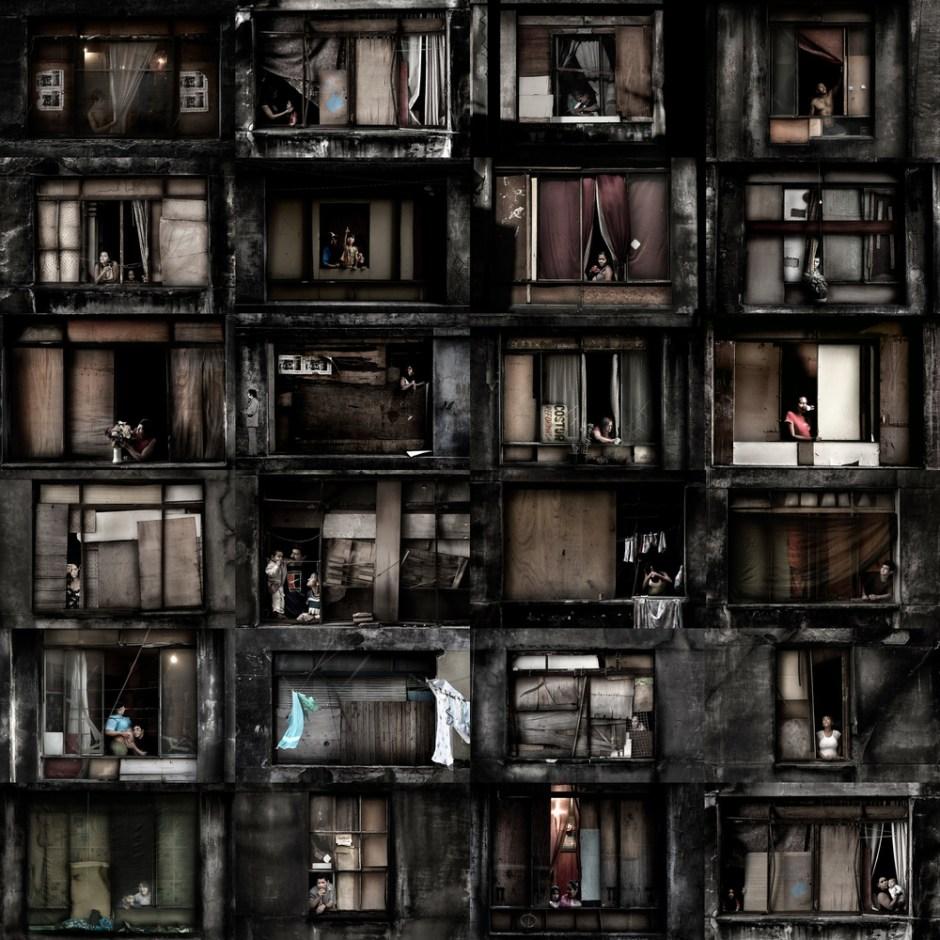 In a Window of Prestes Maia 911 Building