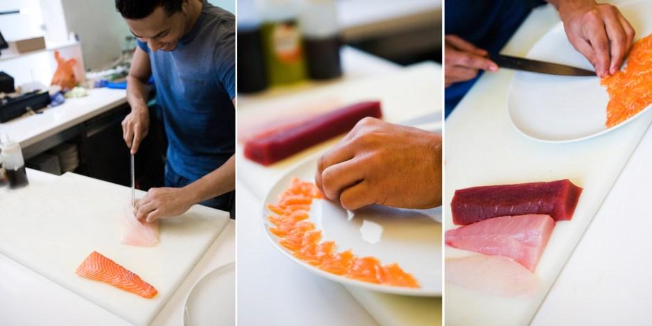 Elaboración de Sashimi · Foto: Jaume Ayuso