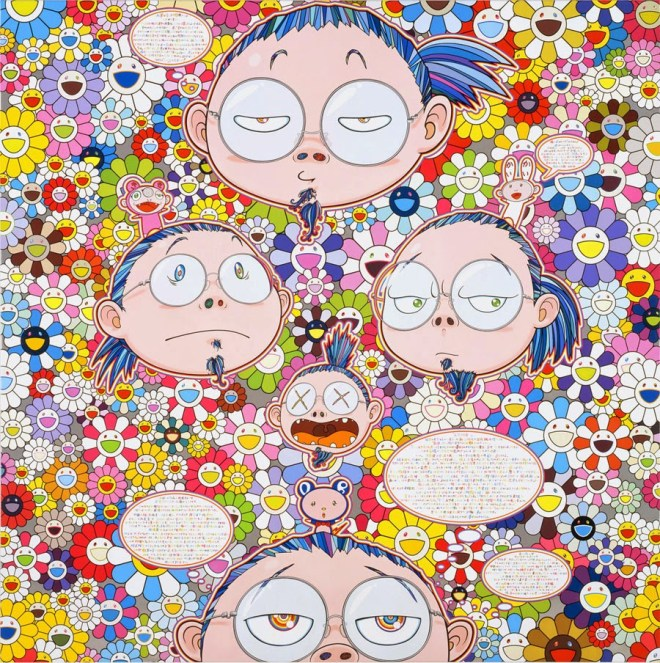 TAKASHI MURAKAMI - Self-Portrait of the Manifold Worries of a Manifoldly Distressed Artist, 2012