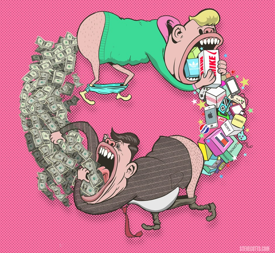 Circle of life by Steve Cutts