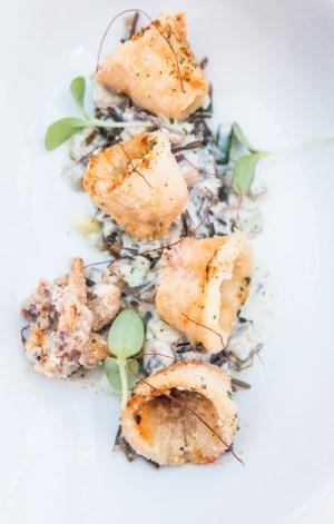Calamar con arroz salvaje
