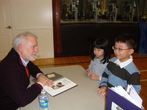 Chris Van Allsburg (Author of Polar Express) signed his book Queen of the Falls at the Rhode Island Children's Book Festival 2011