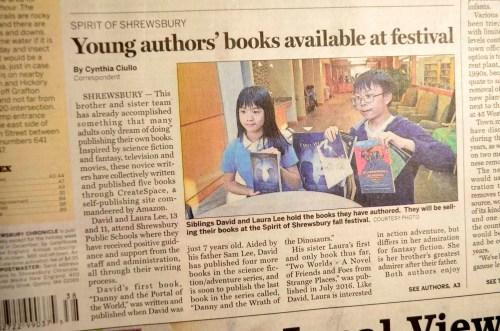 Cynthia Ciullo (Correspondant of Shrewsbury Chronicle) interviewed David and Laura at Shrewsbury Public Library